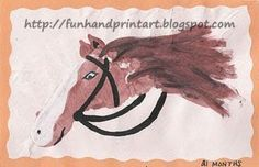 Handprint and Footprint Arts & Crafts: Footprint Horse Craft