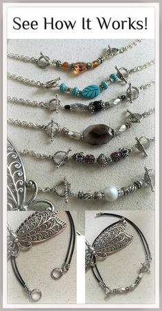 Handmade Beaded Pendants easily attach to chain of your choice. One Chain  so many options d39fdf63ebcf