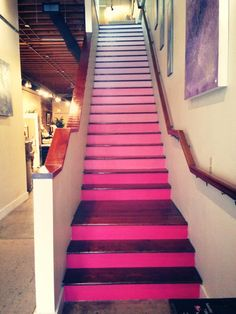 Our Ombre Painted Stairs!