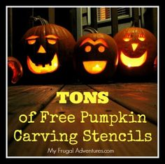 Free Pumpkin Carving Stencils- tons of options from Disney to Superman to goblins and ghouls.