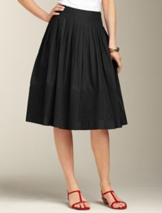 new eyelet skirt from talbots...