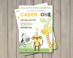 King of the Jungle Birthday Party Invitation by getthepartystarted, $13.00