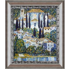 Church in Cassone (Landscape with Cypress) by Gustav Klimt Framed Painting Print