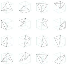 polygon illustration -- simple lines, interesting shapes from simple shapes