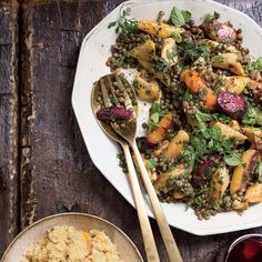 Warm Lentil and Vegetable Salad