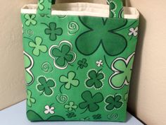 St Patrick's Day Fabric Gift Tote Bag Gift Wrap by HugsandHolidays, $10.00