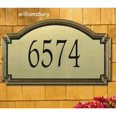 Whitehall Norfolk Vertical Address Marker Personalized Plaque 17 Color Choices