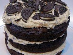 Imagem da receita Bolo naked cake oreo