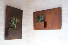 corten wall planter