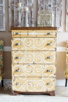Hand Painted Dresser with Miss Mustard Seed's Milk Paint