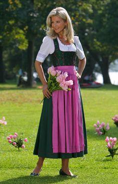 Chiemseer Dirndl & Tracht Online Shop-Blusendirndl Fichtensee, ohne Schürze