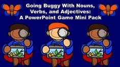Going Buggy With Nouns, Verbs, and Adjectives: A PowerPoint Game Mini Pack Teacher Tools, Teacher Resources, Classroom Resources, Different Parts Of Speech, Powerpoint Games, Hands On Activities, Spring Activities, Nouns And Verbs, Teaching Materials