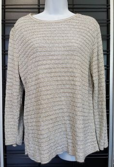 ALFRED DUNNER Womens Size XL Knit Top Made in USA Stretchy Houndstooth  Casual  AlfredDunner  KnitTop  Casual e058c1a39