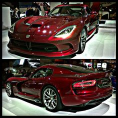 Blood Red Dodge Viper SRT!!! This is one sexy car! and my man would probably agree... :)
