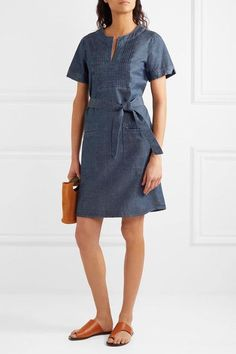 Blue cotton-chambray  Slips on  100% cotton Machine wash Imported