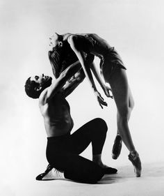 Francisco Moncion and Tanaquil Le Clercq perform in Jerome Robbins' ballet, Afternoon of a Faun, in 1953. Photo courtesy of Augusta Films.