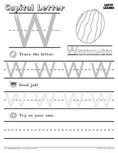 Capital Letter W | Lotty Learns
