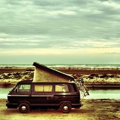 "113 Likes, 14 Comments - Simone Baboni (@digitalchef) on Instagram: ""My beloved #VW #T3 #westfalia #vanagon resting on a beach after many miles - #digitalchef"""