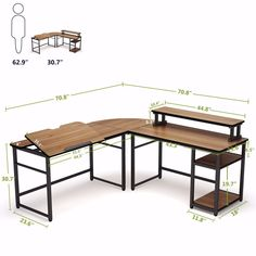 Both side of this double corner computer desk are the same length. x offer plenty of room to place monitors, printer, laptop or other essential accessories. Defining your workspace however you need. Art Studio Room, Home Studio Music, House Furniture Design, Home Furniture, House Design, Furniture Vintage, Home Design Plans, Home Office Design, Computer Stand For Desk