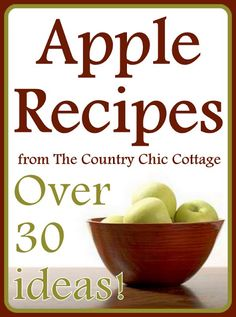 Apple Recipes -- over 30 ideas for the fall harvest this year.  Everything from apple butter to pulled pork sliders with apples!  Never get tired of apples with these great ideas for using them.
