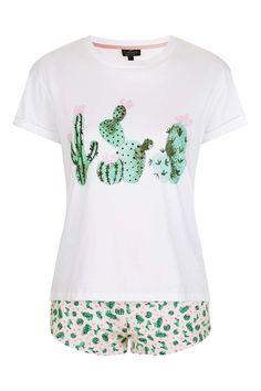 PETITE Cactus Heart Pyjama Set - Topshop