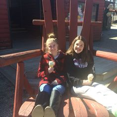 Big chair, ice cream, and my best friend