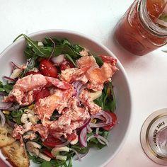 Like most things arugula salad is better with #lobster. (#howisummer via @justinchapple) by foodandwine #instagram