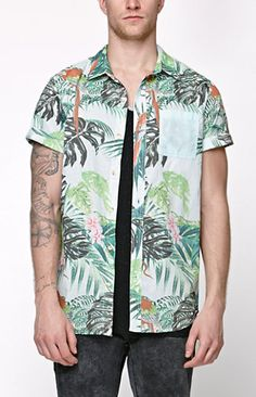 5709852b PacSun presents the On The Byas Camp Woven Shirt for men. This sultry men's  button