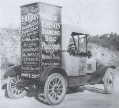 Edison Diamond Disc Radios, Edison Phonograph, Talking Machines, Sound Art, Recital, Horn, Piano, The Past, Truck