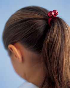 Jingle Bell Ponytail Holders #tutorial