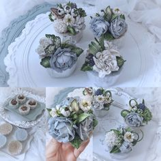 Flower Cake Design, Buttercream Flower Cake, Flower Cakes, Cake Decorations, Mini Cakes, Muffins, Cupcakes, Decorating, Baking