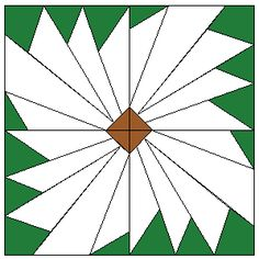 Margaret's Daisy - in case I lose my mind and decide to try paper piecing Paper Pieced Quilt Patterns, Quilting Templates, Quilting Tutorials, Quilting Designs, Patch Quilt, Quilt Blocks, Flower Quilts, Foundation Paper Piecing, Daisy Pattern
