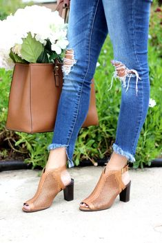 Give your every day style a lift in block heel perf shooties. Rockport Total Motion, How To Wear Heels, Walking Tall, Piece Of Cakes, Block Heels, Booty, Pairs, Clothes For Women, Outfits