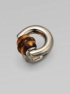 1fc99b9fe00 Gucci - Bamboo Horsebit Sterling Silver Ring