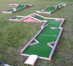 Homes Should Have Mini Golf Courses For Those Stressful Days Backyard Mini Golf Www Musicnmotion Info Diy Carnival Games Switch Bricks Mini Golf Miniature Golf Course Indoor Mini Golf How To Build A Mini Golf… Mini Golf, Backyard Putting Green, Putt Putt Golf, Outside Games, Crazy Golf, Miniature Golf, Best Golf Courses, Backyard Games, Outdoor Projects