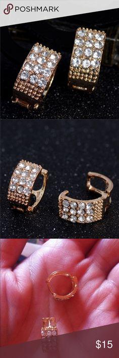 Cute Earrings 18K Gold Plated Hoop Earrings Jewelry Earrings