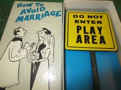 HOW TO AVOID MARRIAGE 1969 FRANC0-AMERICAN GAG NOVELTY ADULT GIFT KITSCHY FUN