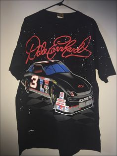 12b34a48ad29 Vintage DEADSTOCK 90's NASCAR Dale Earnhardt Intimidator All Over Print  Double Sided Shirt - Size XL