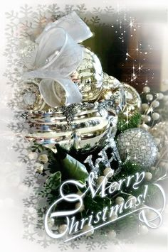 Decent Image Scraps: Merry Christmas Christmas Wishes, Christmas Photos, Merry Christmas Gif, Christmas 24, Merry Christmas And Happy New Year, Christmas Scenes, Xmas, Holiday Gif, Silver Christmas