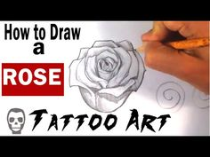 How to Draw an Open Rose - YouTube