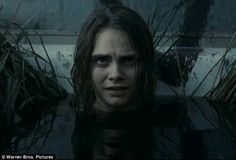Not so glamourous: Model CaraDelevingne could be seen in dirty, murky water June Moone/ Enchantress