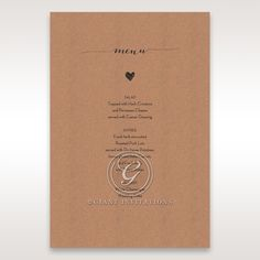 Golden Country Lace With Twine Menu Cards in Brown DM115084
