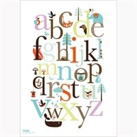 ABC plakat fra Isak - ville være fin på væggen hos en af mine drenge :)