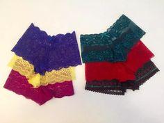 kit 10 calesson caleçon short calcinha em renda varias cores