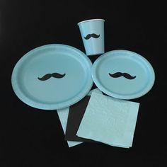Platos fiesta bigote  Bash Stache  bigote tema por SteshaParty