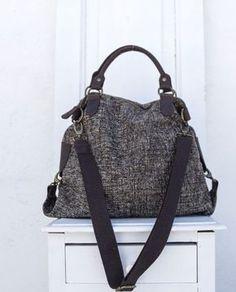Anastasia Marrone  borsa in lana bouclè con manici ed inserti in pelle 8f42fd12627