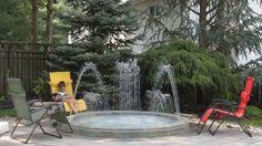 Water Entertainment # Fountscape Oasis Decorative Fountains, Light Effect, Rooftop, Oasis, Terrace, Environment, Backyard, Entertainment, Places