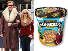 Raise Your Cone to Ben - OMG YES!  :-)  Ron Burgundy's Scotchy Scotch Scotch ice cream!