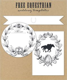 Free Equestrian Wedding Templates