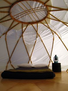 camping in a yurt | the style files